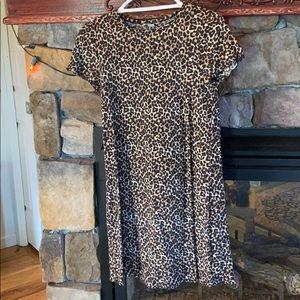 American Eagle Leopard Print Short Sleeve Dress